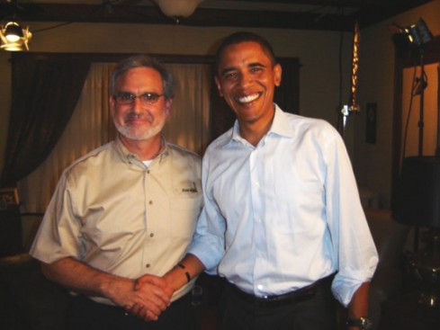 Bill Kaufman with President Barack Obama