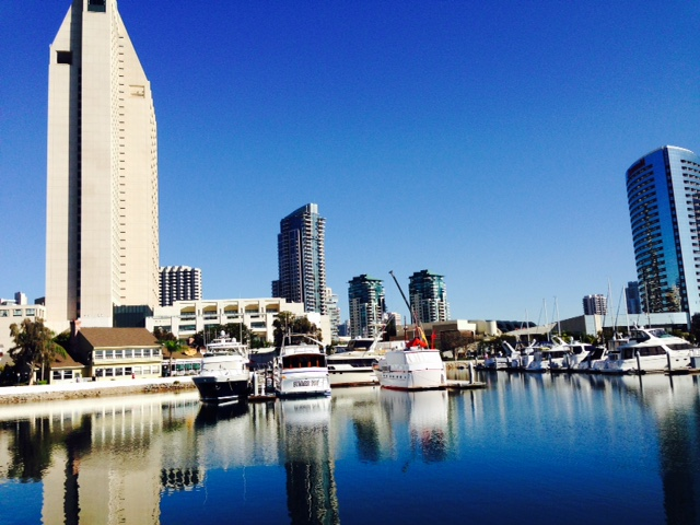 The Kaufman crew explored downtown San Diego during a break